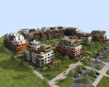 Bytová čtvrť - novostavby
