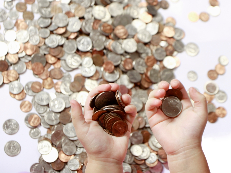 Peníze v rukách