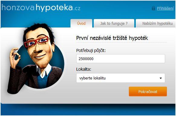 Honzovahypoteka.cz plánuje změnit český hypoteční trh
