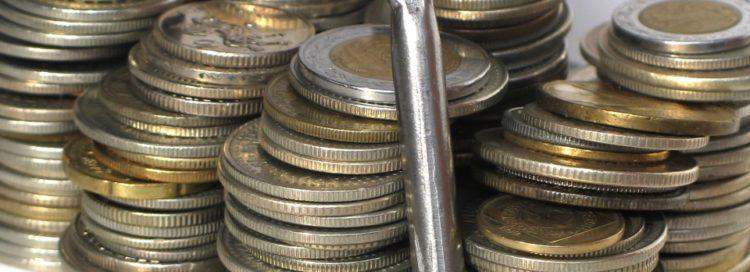 Peníze - mince - klíč