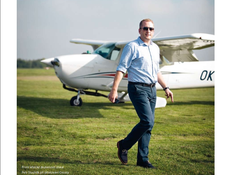 Petr Stuchlík s letadlem