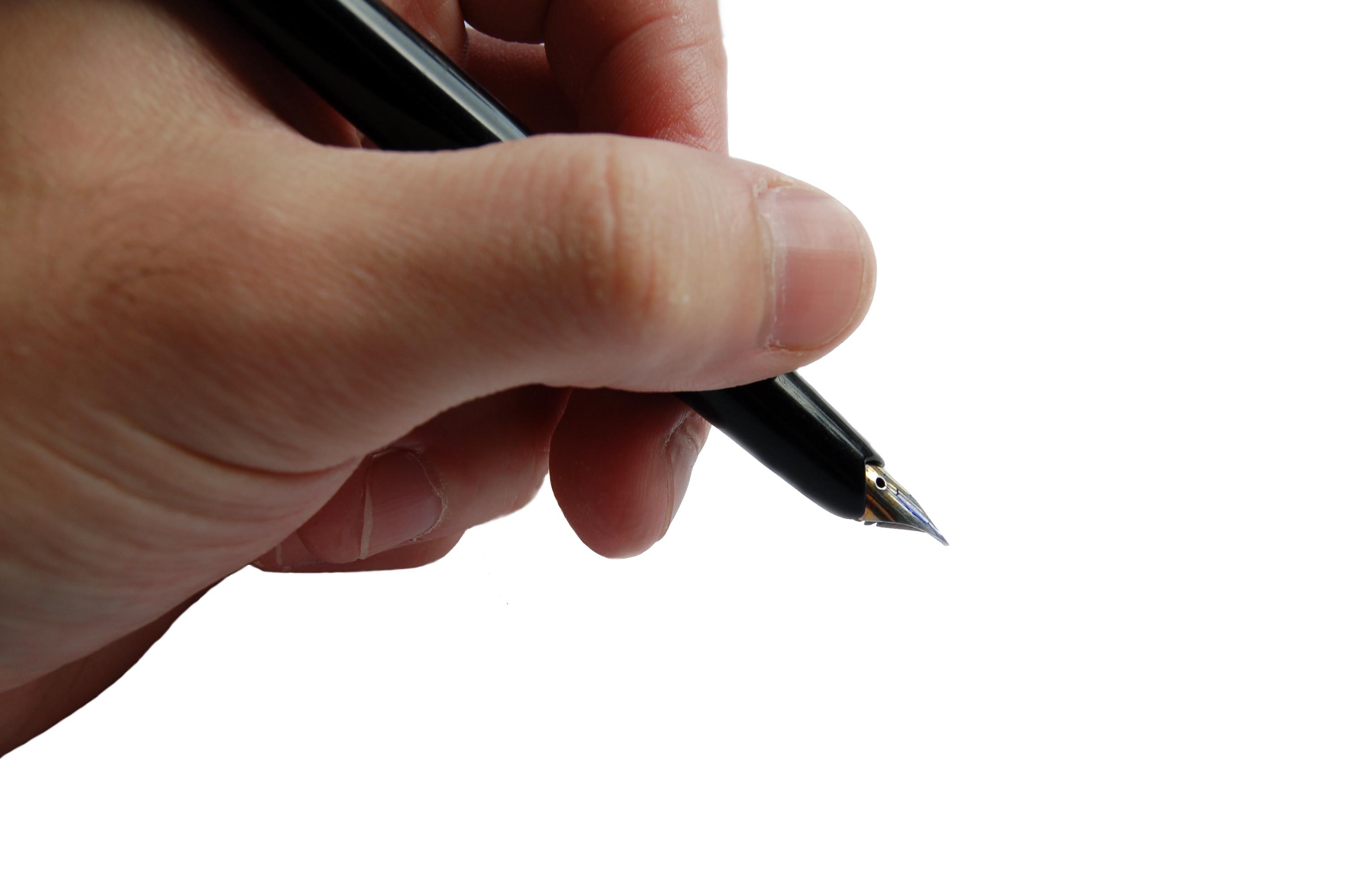 Pero - ruka - podpis - psaní