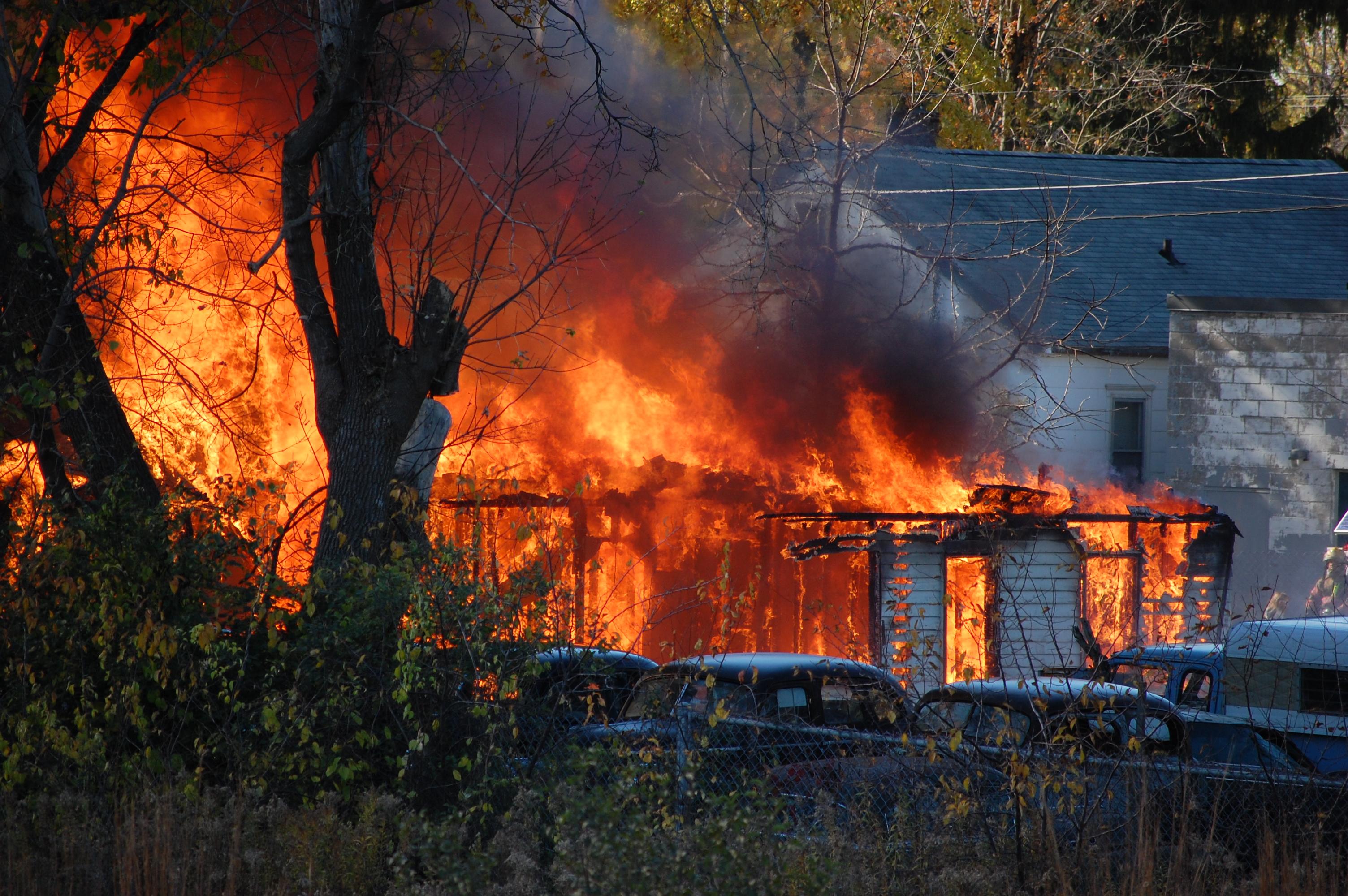 Požár domu - pojištění majetku