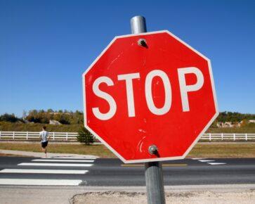 Stopka - dopravní značka
