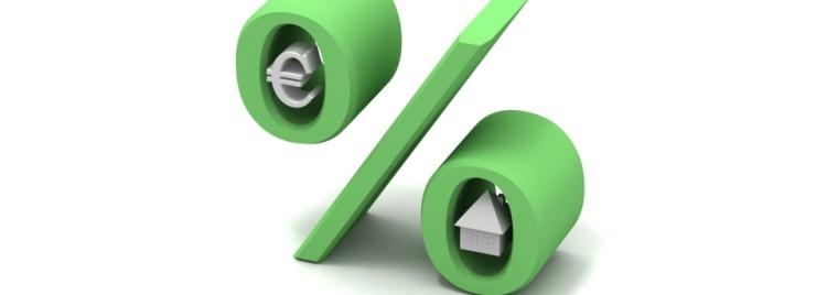 Zelená procenta - euro - dům