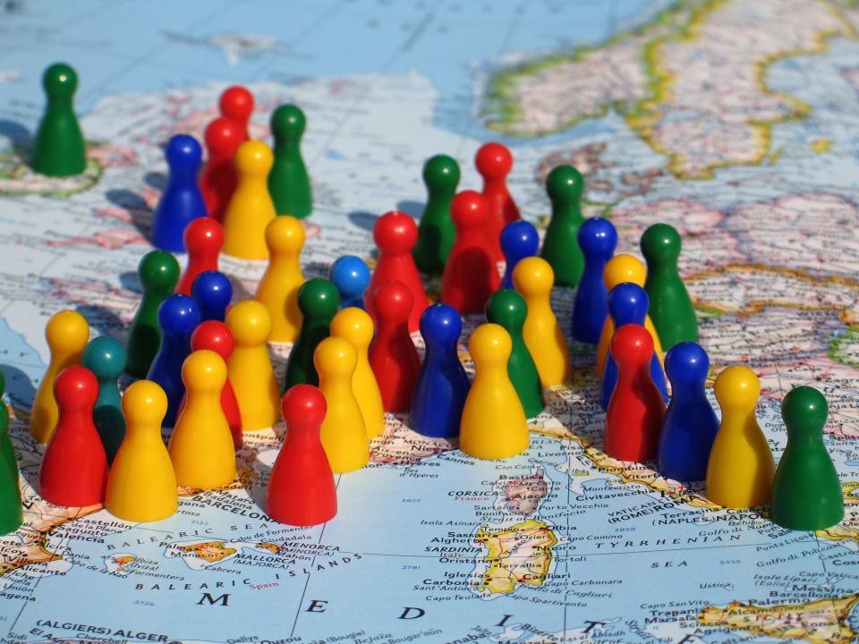 Figurky - mapa - Evropa