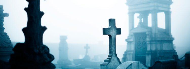 hrbitov, kříž, náhrobní kámen