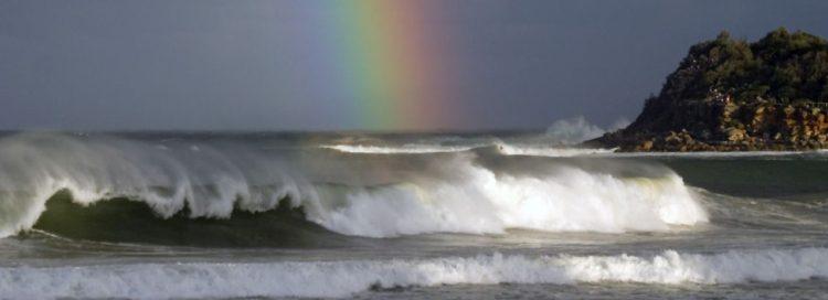 Nebe, země duha, moře
