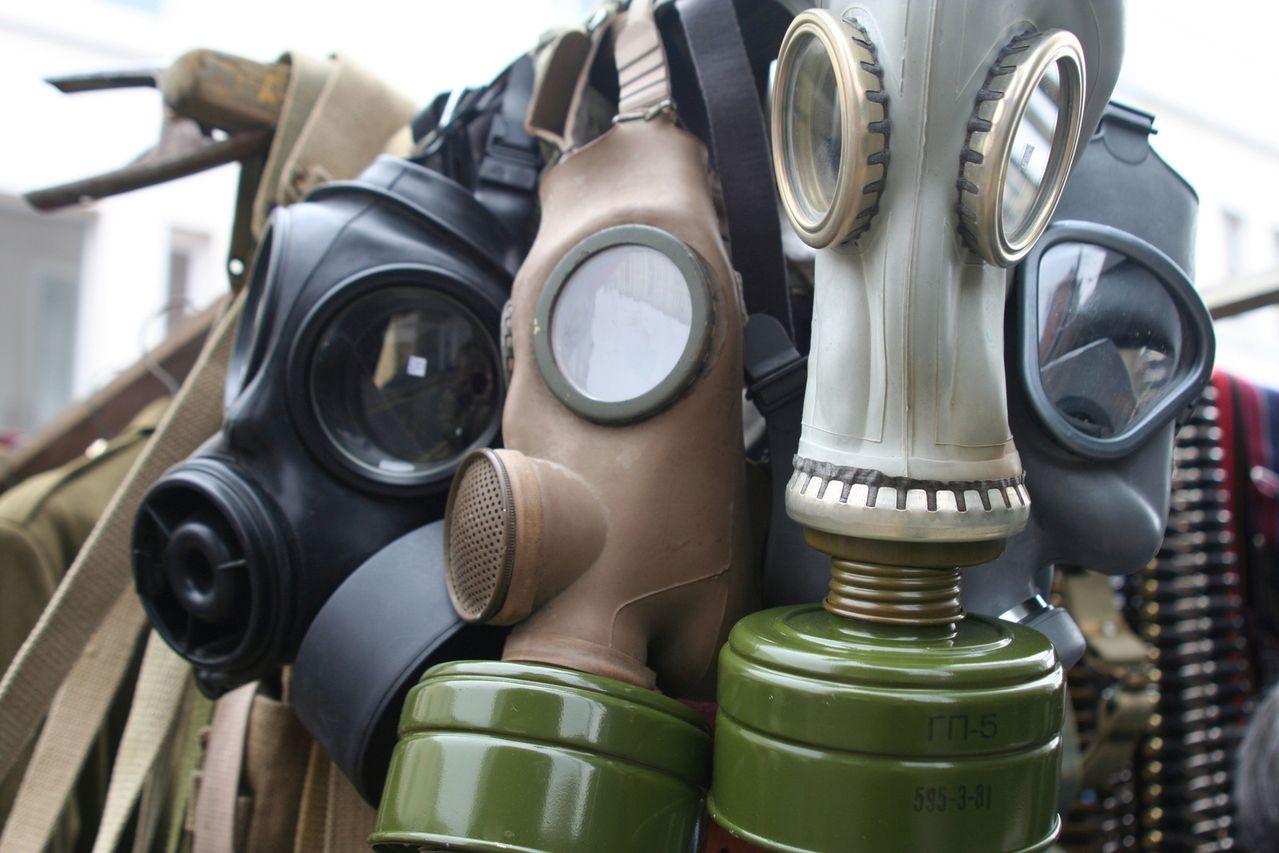 Plynové masky - ochrana - bezpečí