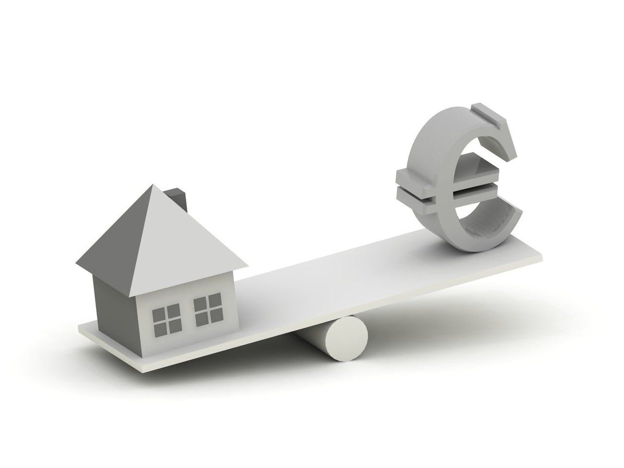 Dům - houpačka - peníze -euro