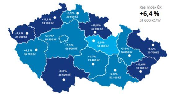 Ceny bytů v České republice