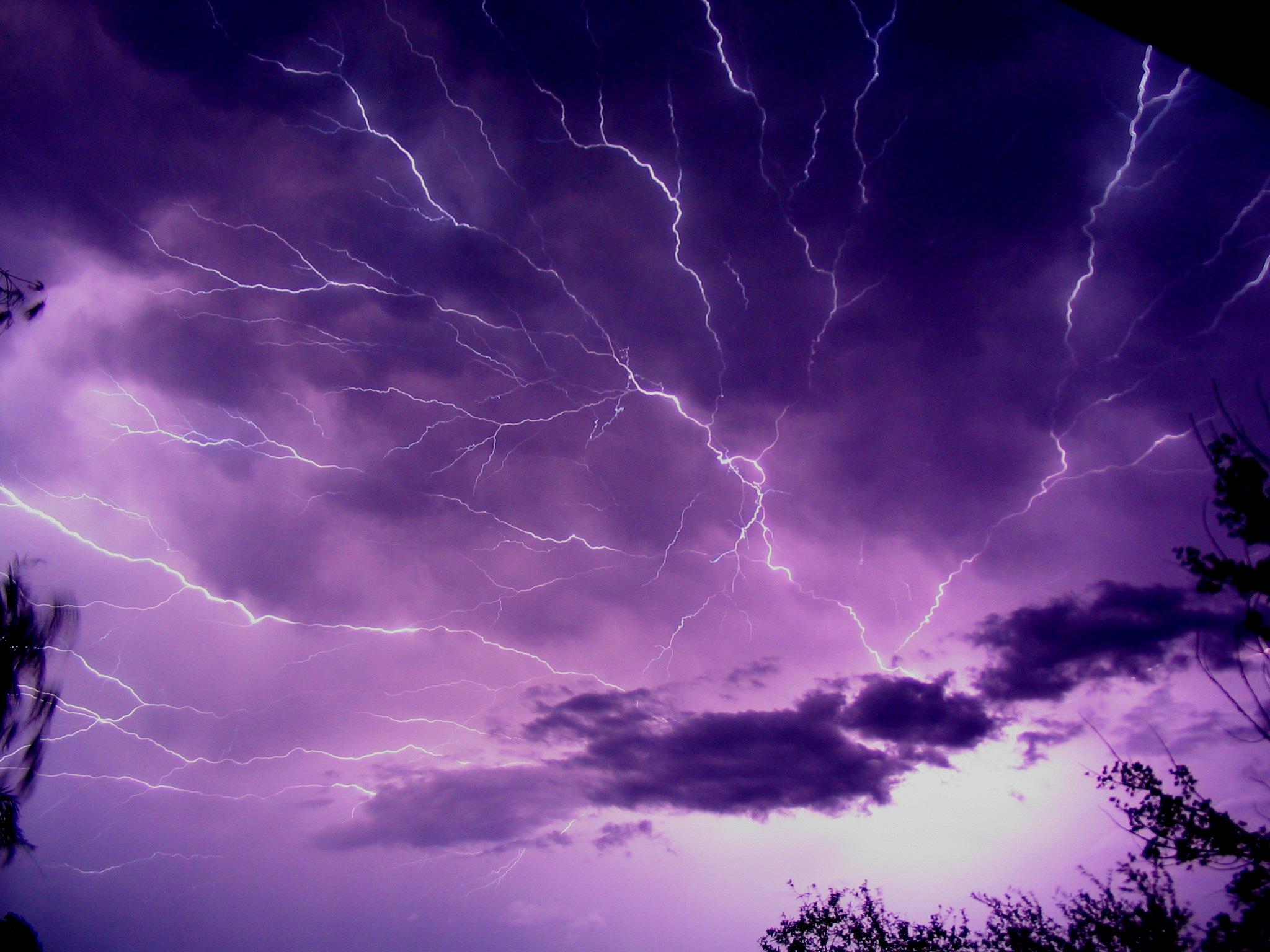 lightning blesky bouře