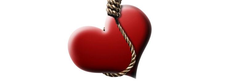 Oběšené srdce - rozvod - rozchod