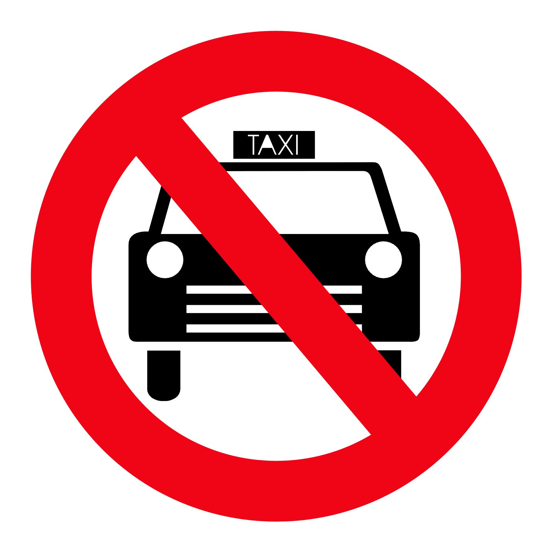 zákaz taxi