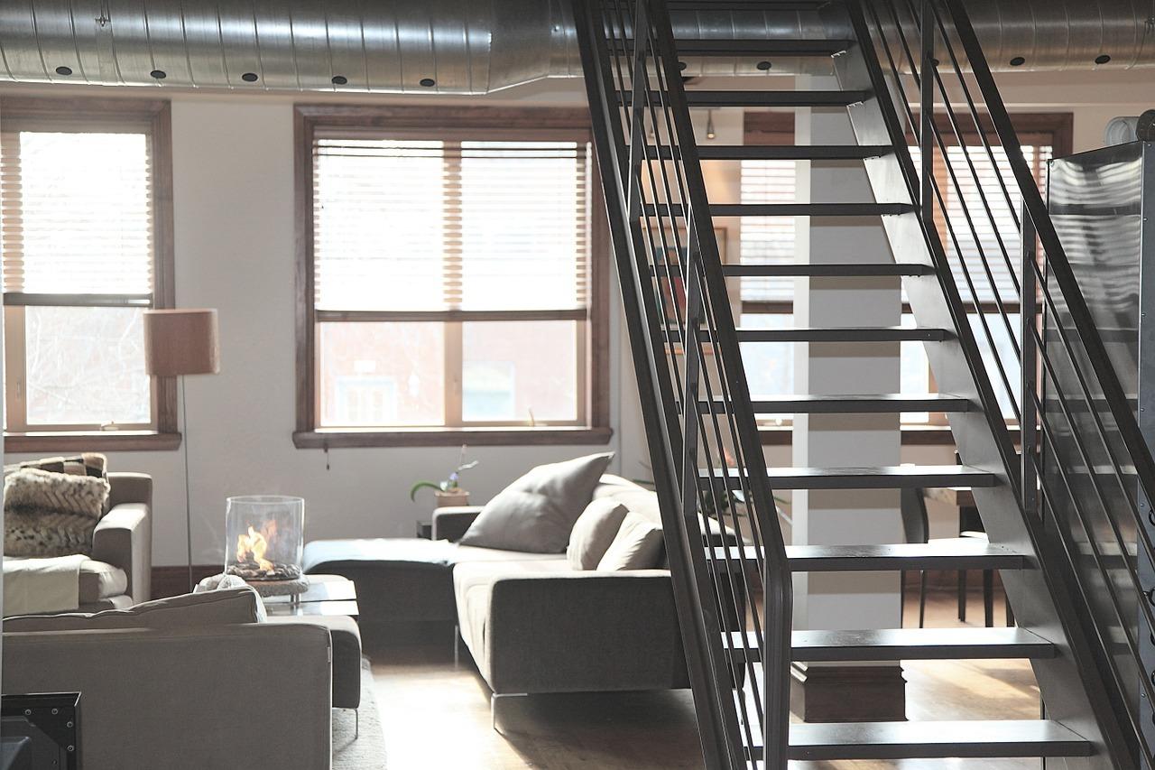 Moderní byt - mezonet - interiér - obývací pokoj