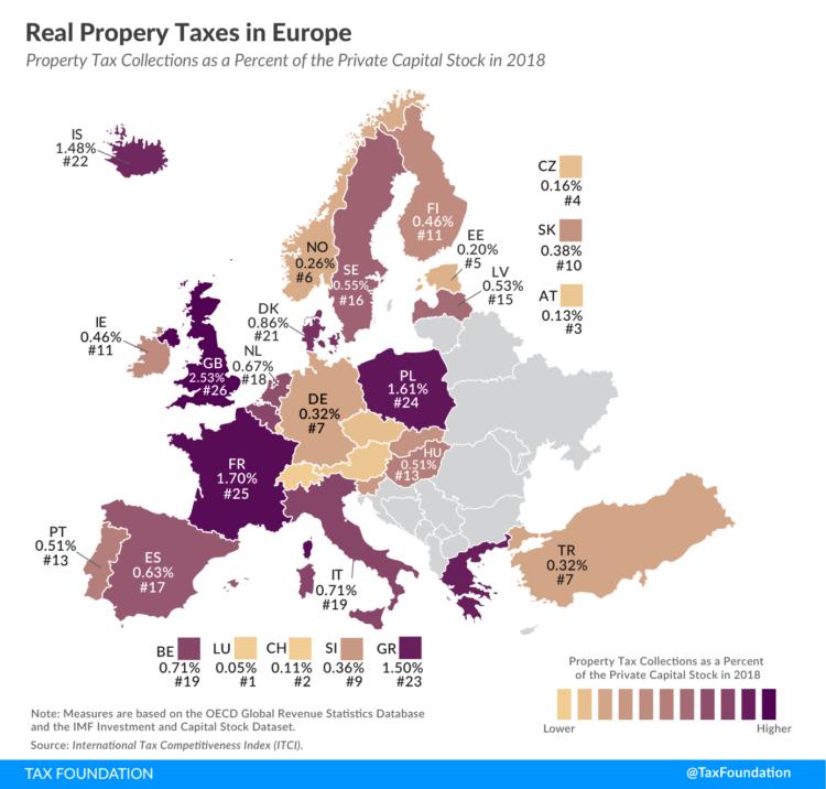 Daň z nemovitých věcí v Evropě